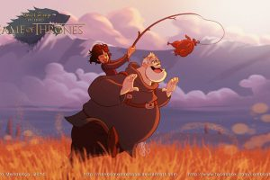 Imaginan los personajes de Game of Thrones si fueran animados por Disney